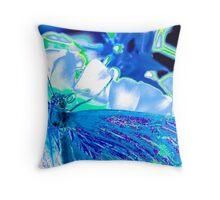 Gossamer Wings Blue Throw Pillow