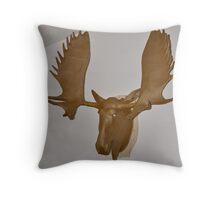Moose Cardboard Throw Pillow