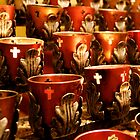 Altar Candles by Glennis  Siverson