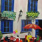 Sidewalk Cafe by Louise Henning