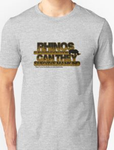 Rhinos survived evolution can they survive mankind T-Shirt