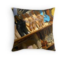 The Shoe Shop Throw Pillow