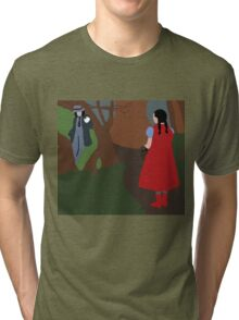 Little Red Riding Hood And the Wolf (INTO THE WOODS)  Tri-blend T-Shirt