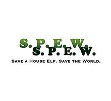 SPEW - Save a House Elf Save the World Photographic Print