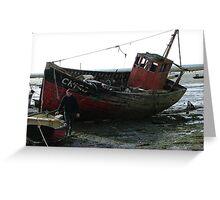 Abandoned trawler Greeting Card