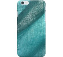 turquoise fabric iPhone Case/Skin