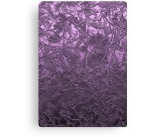Metal Grunge Relief Floral Abstract Canvas Print