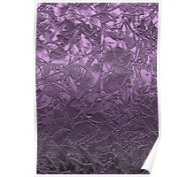 Metal Grunge Relief Floral Abstract Poster