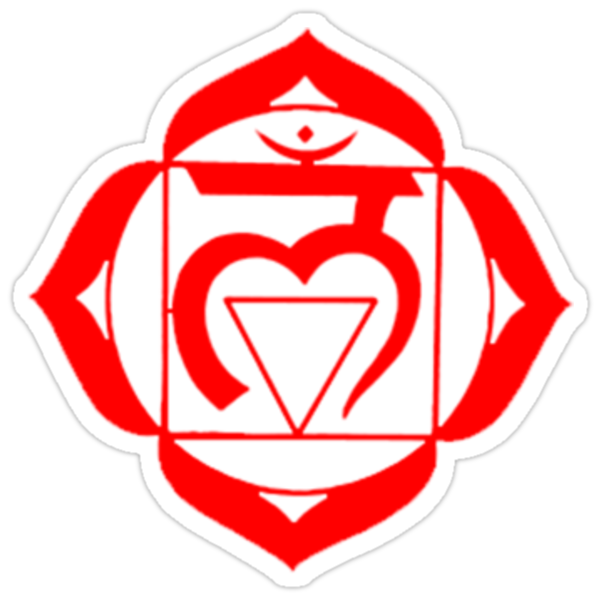 Quot Muladhara Root Chakra Quot Stickers By Lotusflower Redbubble