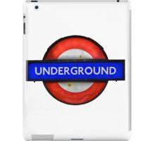 Isolated Grungy London Underground Sign iPad Case/Skin