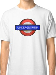Isolated Grungy London Underground Sign Classic T-Shirt