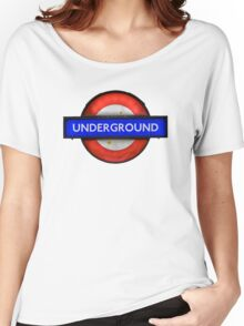 Isolated Grungy London Underground Sign Women's Relaxed Fit T-Shirt