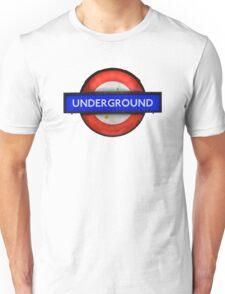 Isolated Grungy London Underground Sign Unisex T-Shirt