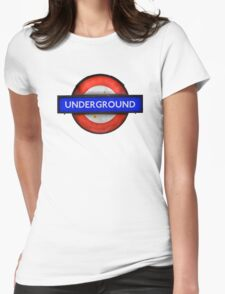 Isolated Grungy London Underground Sign Womens Fitted T-Shirt