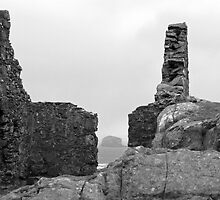 The Bass Rock through Watchtower Ruins by Andrew Ness - www.nessphotography.com