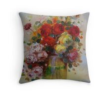 wishing everyone a blessed christmas and a joyful new year from sintra.. Throw Pillow