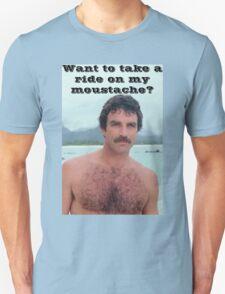 Selleck Moustache Ride Unisex T-Shirt