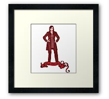 Lady Time Lord (Donna) Framed Print
