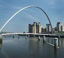Millenium Bridge and Baltic Newcastle by Jackie Wilson