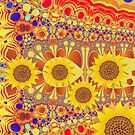 Patterns and Sunflowers by walstraasart