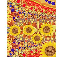 Patterns and Sunflowers Photographic Print