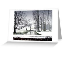 Snowfall at the River Wensum, North Norfolk Greeting Card