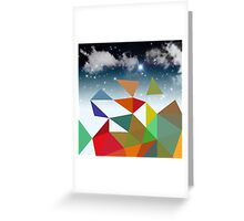 low poly  Greeting Card