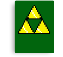 8 Bit Triforce pixel Canvas Print