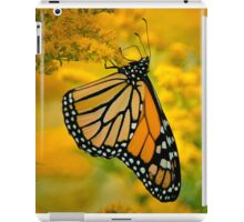 Monarch Butterfly on Goldenrod iPad Case/Skin