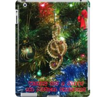 A Christmas Card for Musicians and Lovers of Music iPad Case/Skin