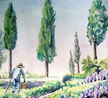 Tuscan Gardener by Carolyn Bishop