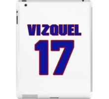 National baseball player Omar Vizquel jersey 17 iPad Case/Skin