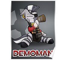 Demomare TF2 Pony Badge Poster