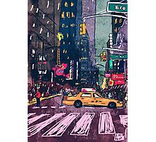 Hey Taxi Photographic Print