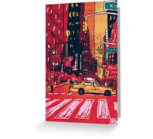 Summer Taxi Greeting Card
