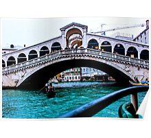 Rialto Bridge Venice December 2014 Poster