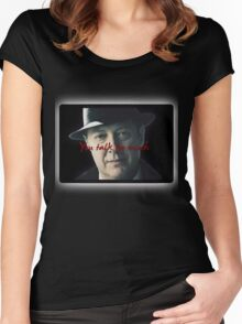Raymond 'Red' Reddington - You talk too much Print Women's Fitted Scoop T-Shirt