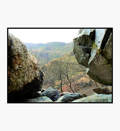 Between a rock and a hard place Photographic Print