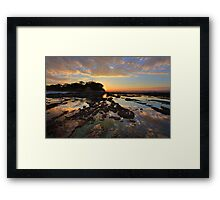 Magnificent colours and reflections at Plantation Point sunset Framed Print