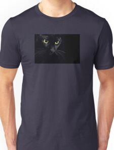 black cat portrait Unisex T-Shirt
