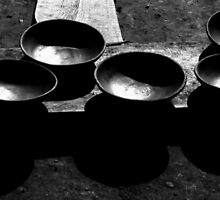 B & W pottery bowls by Jordan Miscamble