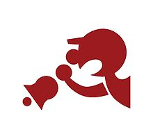 Game & Watch Symbol - Super Smash Bros. (red) by hopperograss