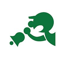 Game & Watch Symbol - Super Smash Bros. (green) by hopperograss