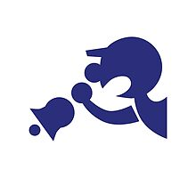 Game & Watch Symbol - Super Smash Bros. (blue) by hopperograss