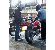 Two bikers Photographic Print