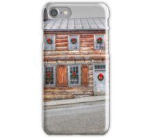 Christmas Log Cabin iPhone Case/Skin