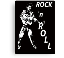 ROCK 'n' ROLL T-SHIRT Canvas Print