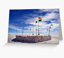 Flags over the salar Greeting Card