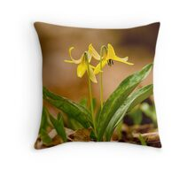 Dogs Tooth Lily - Erythronium Throw Pillow