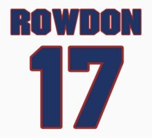 National baseball player Wade Rowdon jersey 17 by imsport